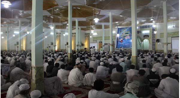 برگزاری محفل انس با قرآن همزمان با ایام مبارک ماه رمضان در مسجد جامع نور شهرستان سراوان