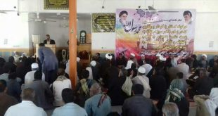 مراسم بزرگداشت مولوی نصرتی امام جمعه فقید بخش نگین کویر شهرستان فهرج