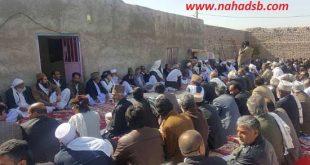 صلح و سازش دو طایفه ریگی و شهنوازی در روستای انده لادیز شهرستان میرجاوه